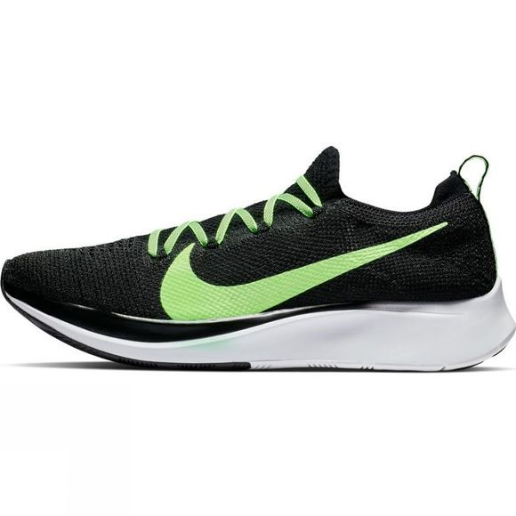 Nike Mens Zoom Fly Flyknit Black/Lime Blast-Vast Grey