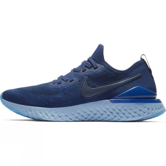 Nike Mens Epic React Flyknit 2 BLUE VOID/BLUE VOID-INDIGO FORCE-BLACK