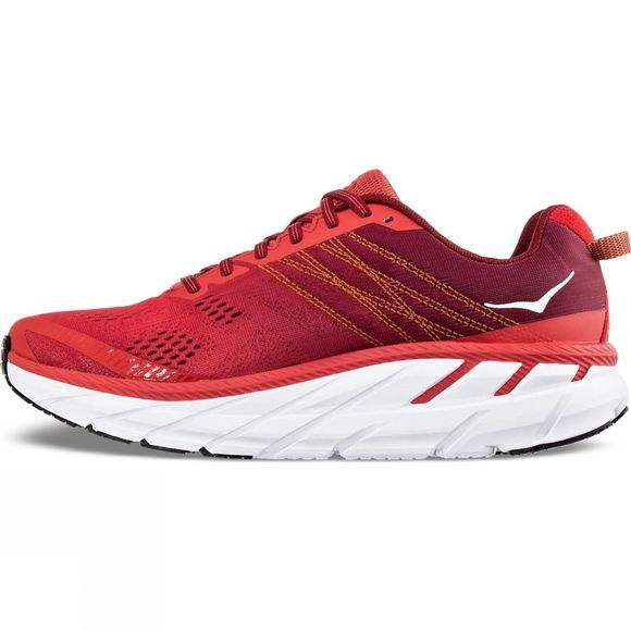 Hoka One One Men's Clifton 6 Poppy Red / Rio Red