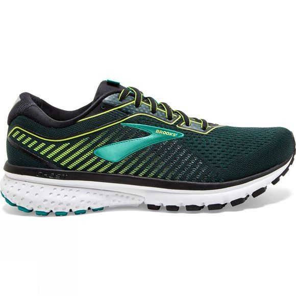Brooks Men's Ghost 12 Black/Lime/Blue Grass
