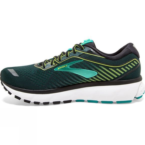 Brooks Men's Ghost 12 Wide Black/Lime/Blue Grass