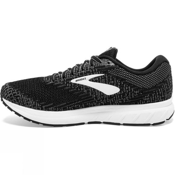 Brooks Men's Revel 3 Black/Blackened Pearl/White