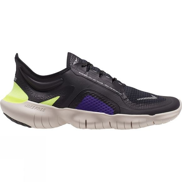 Nike Men's Free RN 5.0 BLACK/METALLIC SILVER-VOLTAGE PURPLE
