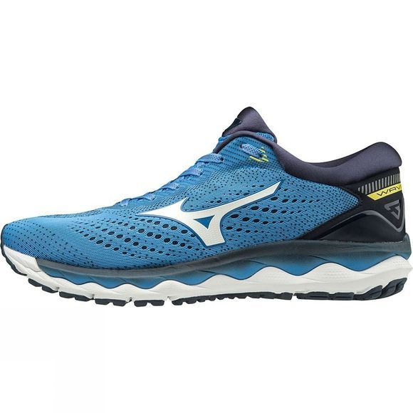 Mizuno Men's Wave Sky 3 Campanula / White / Blazing Yellow