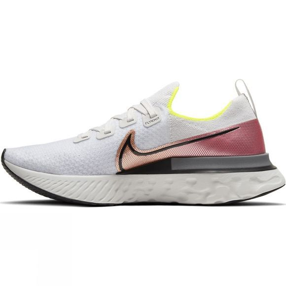 Nike  Men's Epic React Infinity Run Flyknit Platinum Tint/Black-pink Blast