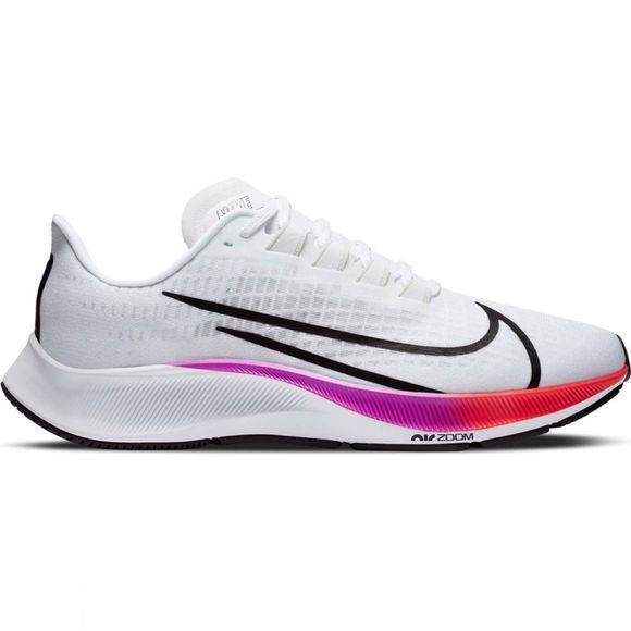 Nike Men's Air Zoom Pegasus 37 White/Flash Crimson-Hyper Violet