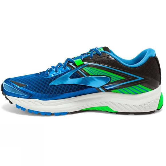 Brooks Mens Ravenna 8 Electric Blue Lemonade/Black/Green Gecko