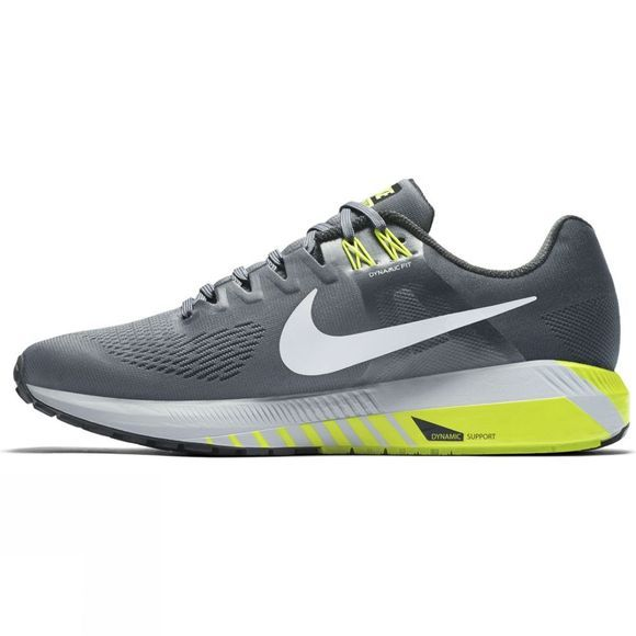 Nike Mens Air Zoom Structure 21 Wolf Grey/Black-Light Carbon-Hyper Royal