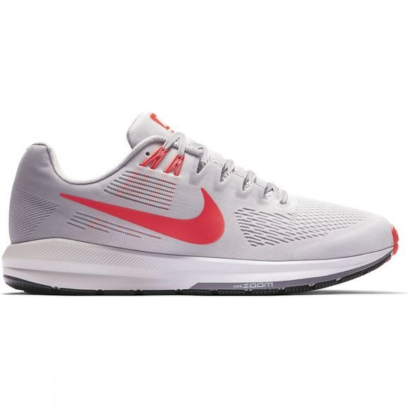 Nike Mens Air Zoom Structure 21 Vast Grey/Bright Crimson-Atmosphere Grey
