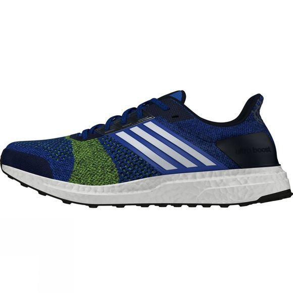 Adidas Mens Ultra Boost ST Blue/ Future White/ Yellow