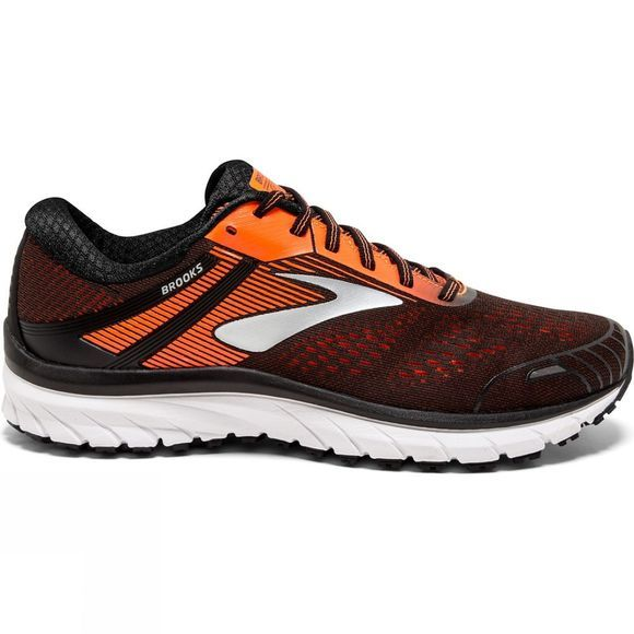 Brooks Mens Adrenaline GTS 18 Black/Orange/Ebony
