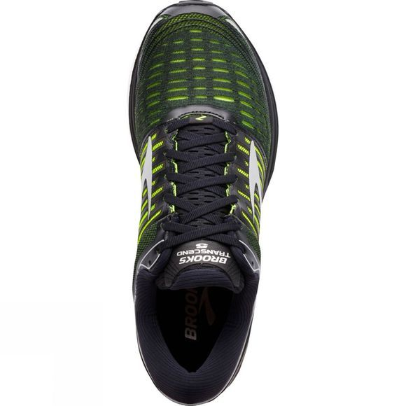 Brooks Mens Transcend 5 Black / Nightlife / Silver