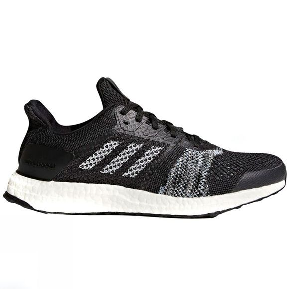 Adidas Men's Ultraboost ST Core Black/Ftwr White/Solar Orange