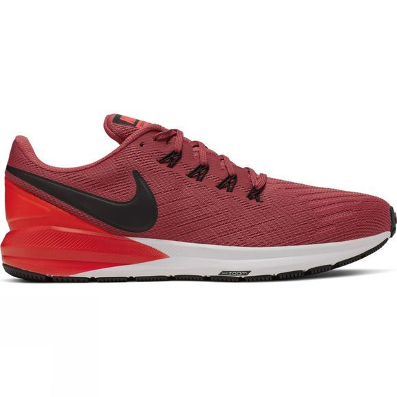 Nike Mens Air Zoom Structure 22 Cedar/Black-Bright Crimson-White