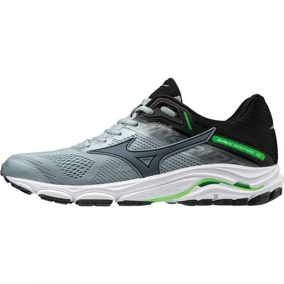 Mizuno Mens Wave Inspire 15 Quary/Stormy weather/Green Gecko