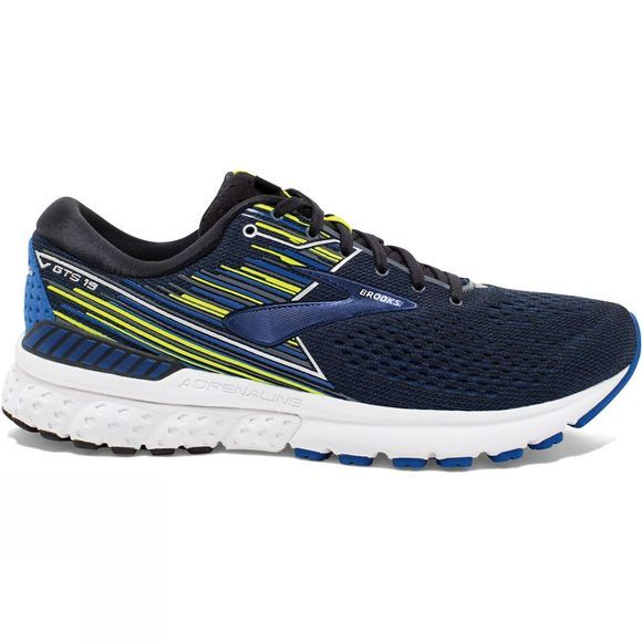 Brooks Mens Adrenaline GTS 19 Black/Blue/Nightlife