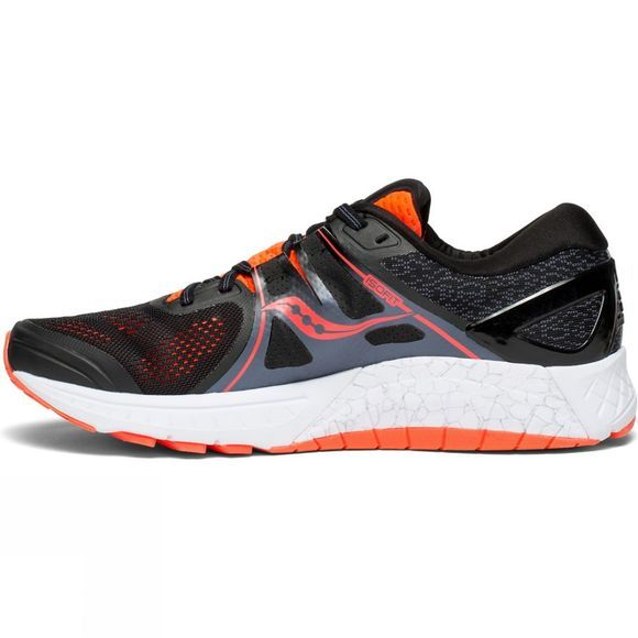 Saucony Mens Omni ISO  BLACK/GREY/VIZIRED