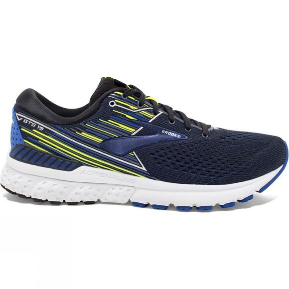 Brooks Men's Adrenaline GTS 19 Extra Wide Black/Blue/Nightlife