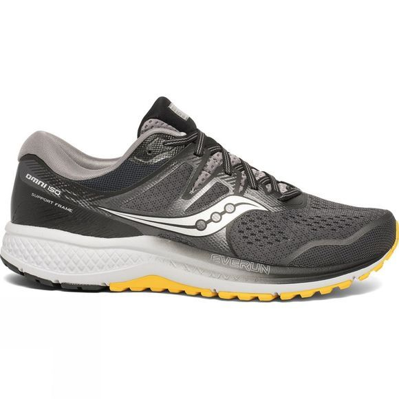 Saucony Mens Omni ISO 2 Grey/Black/Yellow