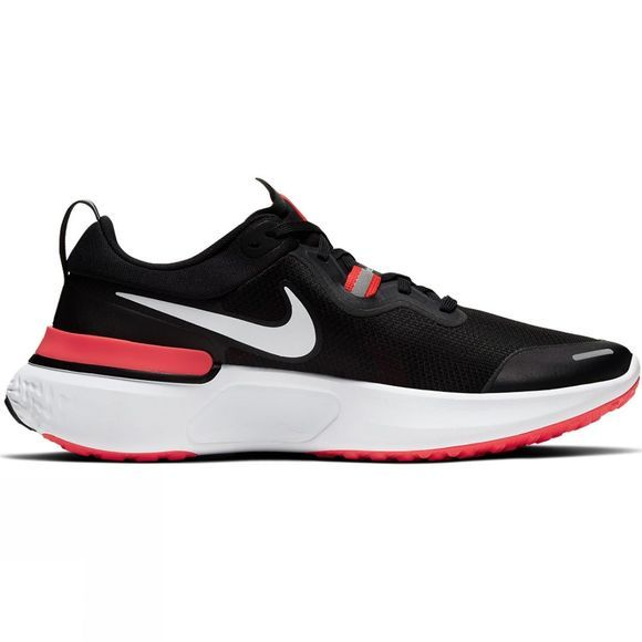 Nike Mens React Miler Black/White-Laser Crimson-Oil Green
