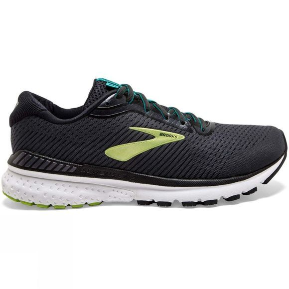Brooks Men's Adrenaline GTS 20 Narrow Black/Lime/Blue Grass