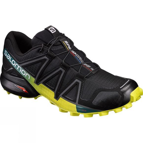Salomon Men's Speedcross 4 Black/Sulphur Spring