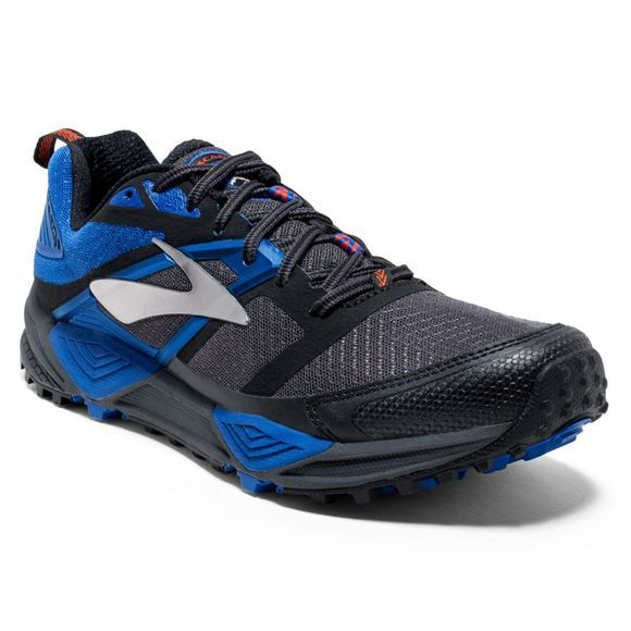 Brooks Men's Cascadia 12  Anthracite/Electric Blue/Black