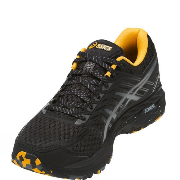 Asics Mens GT-2000 5 Trail PlasmaGuard Black/Carbon/Gold Fusion