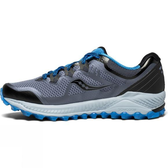 Saucony Mens Peregrine 8 Black/Grey/Blue