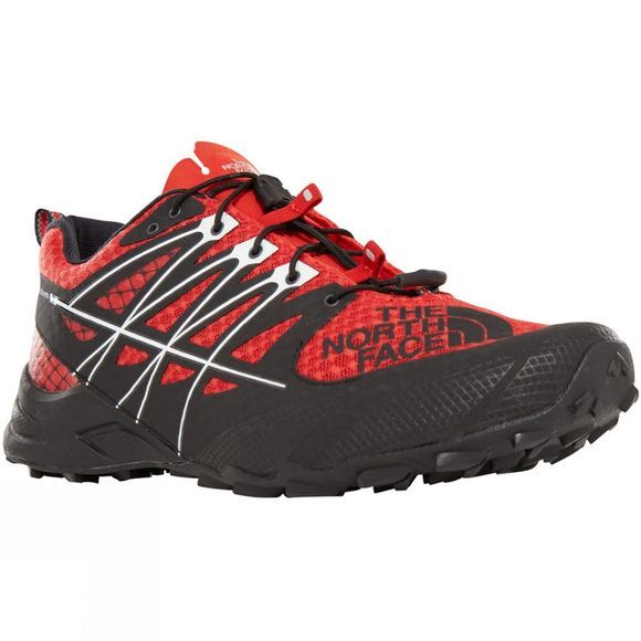 The North Face Mens Ultra Mt II Shoe Fiery Red/TNF Black