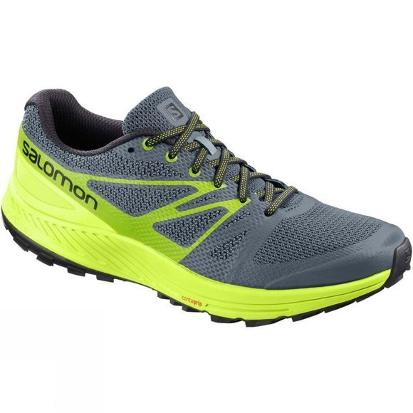Salomon Mens Sense Escape Shoe Stormy Weather/Acid Lime/Lime Green