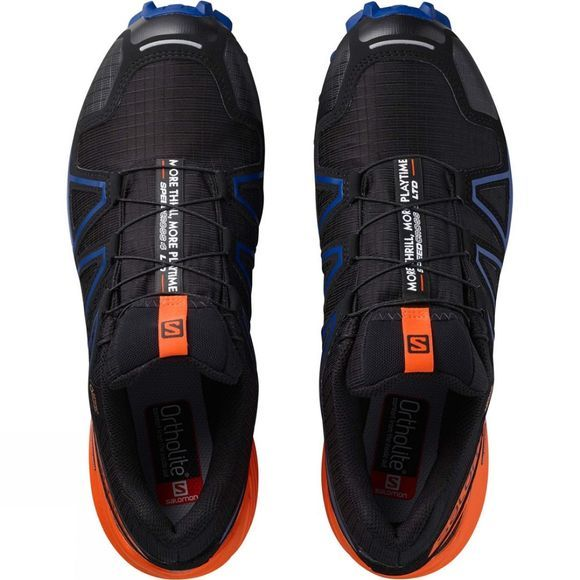 Salomon Mens Speedcross 4 Gtx Ltd Shoe Black/Scarlet Ibis/Surf The Web