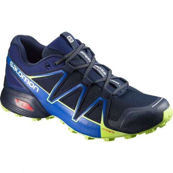 Salomon Mens Speedcross Vario 2 Shoe Navy Blazer/Nautical Blue/Lime Punch