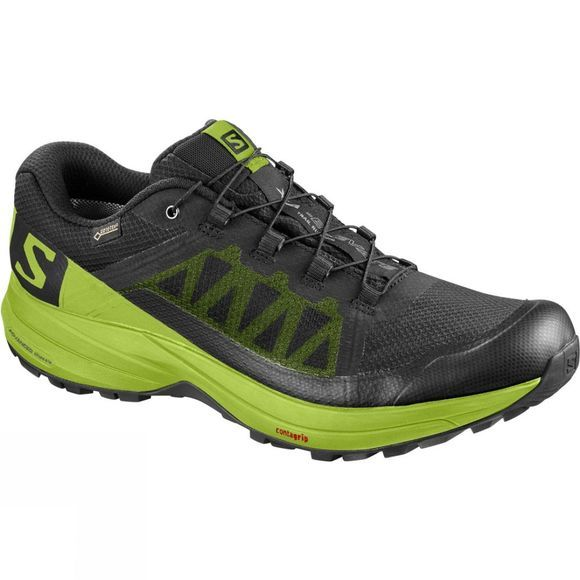 Salomon Mens Xa Elevate Gtx Shoe Black/Lime Green/Black