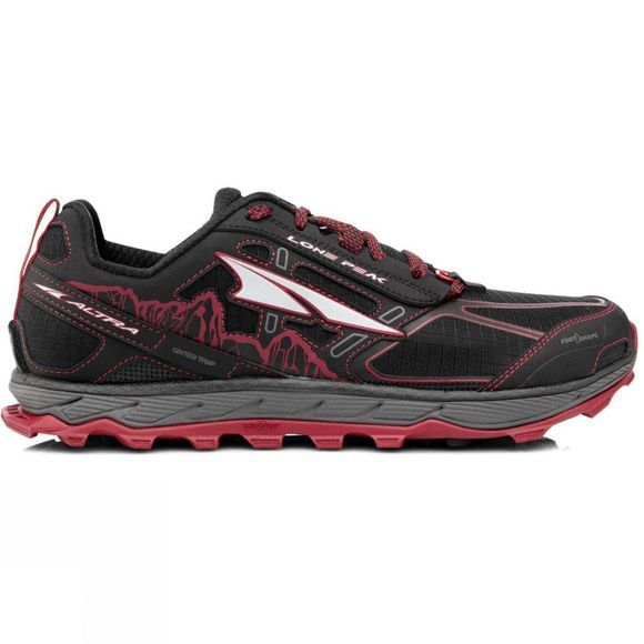 Altra Mens Lone Peak 4.0  Black/Red