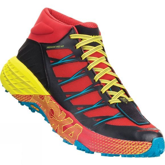 Hoka One One Men's Speedgoat Mid WP Shoe Chinese Red / Caribbean Sea