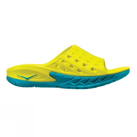 Hoka One One Men's Ora Recovery Slide Caribbean Sea / Primrose