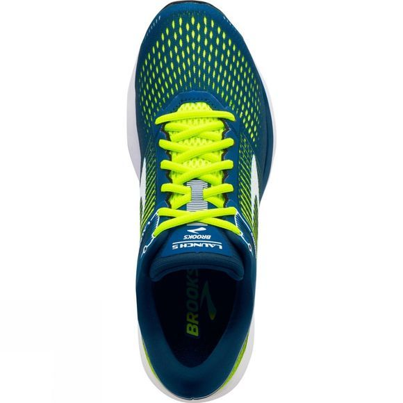 Brooks Mens Launch 5 Blue/Nightlife/White
