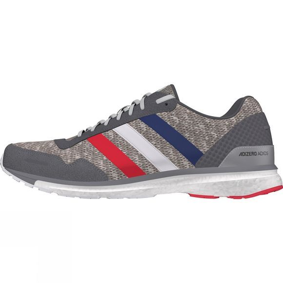 Adidas Adizero Adios 3 AKTIV Shoes Grey Four F17/Ftwr White/Scarlet