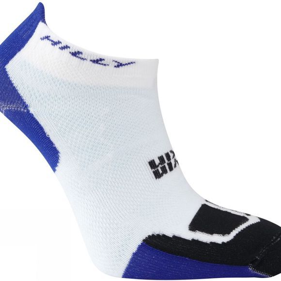 Hilly Twin Skin Socklet White/Electric Blue/Black