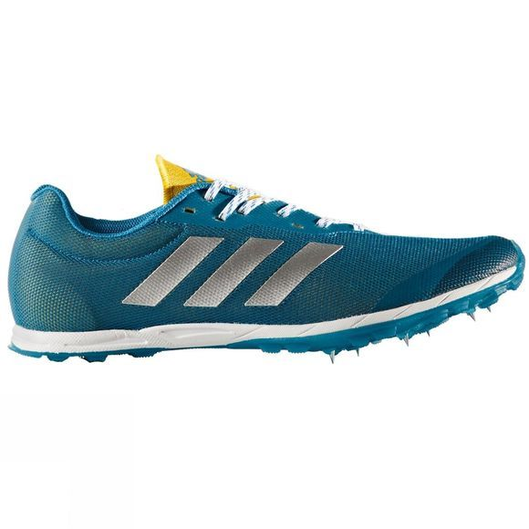 Adidas Mens XCS 7 Spike Shoes Petrol/White/Yellow
