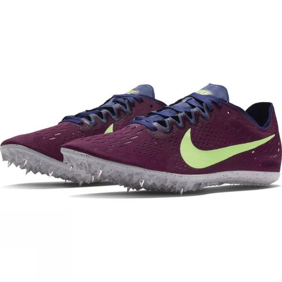 Nike Zoom Victory 3 Racing Shoe Bordeaux/Lime Blast-Regency Purple