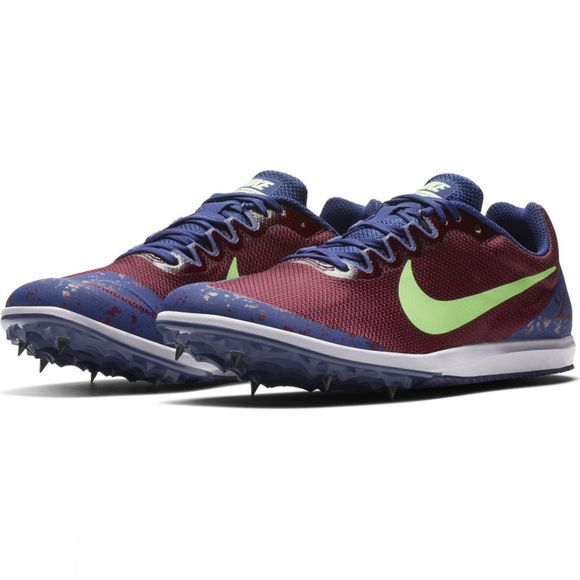 Nike Unisex Zoom Rival D 10 Track Spike Bordeaux/Lime Blast-Regency Purple