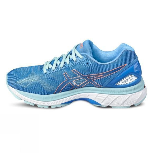 Asics Womens GEL-NIMBUS 19 DIVA BLUE/FLASH CORAL/AQUA SPLASH