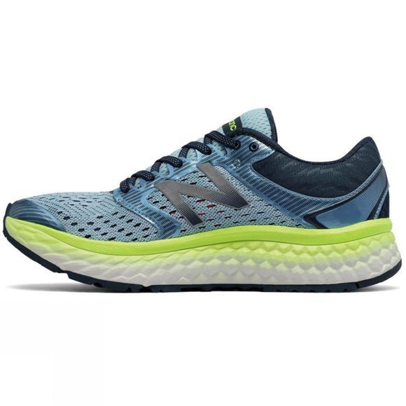 New Balance Women's 1080 v7 OZONE BLUE GLO/LIME GLO