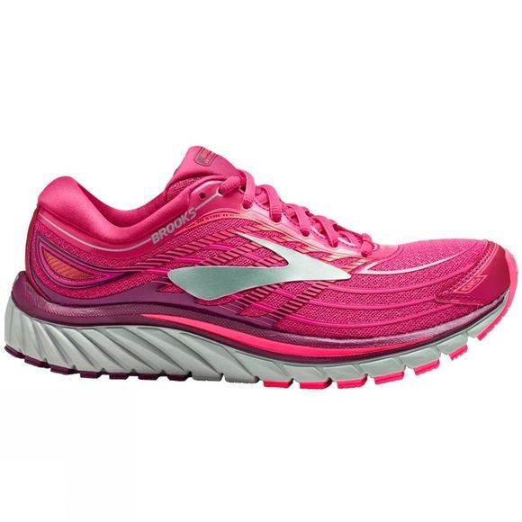 Brooks Womens Glycerin 15 Pink/Purple/Silver