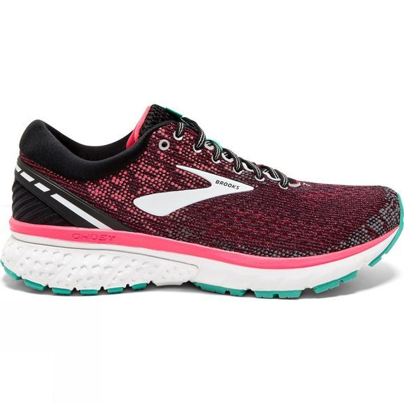 Brooks Womens Ghost 11 Wide Black/Pink/Aqua