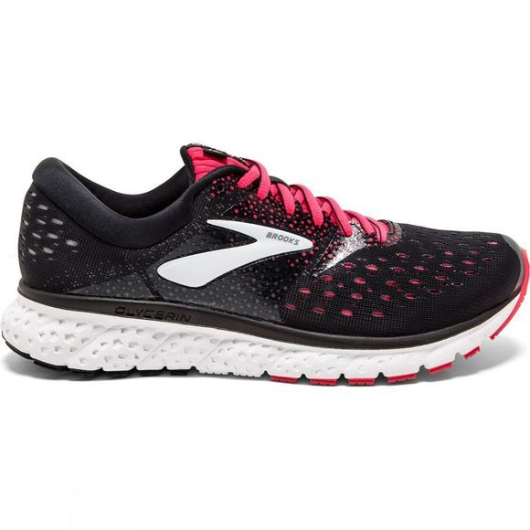 Brooks Womens Glycerin 16 Black/Pink/Grey