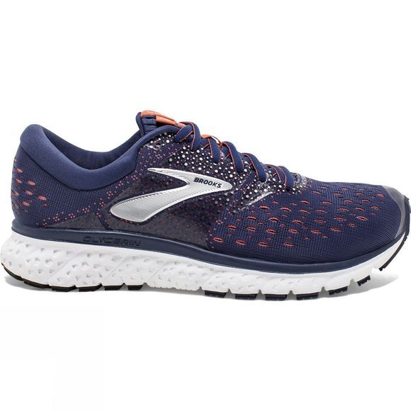 Brooks Womens Glycerin 16 Navy/Coral/White