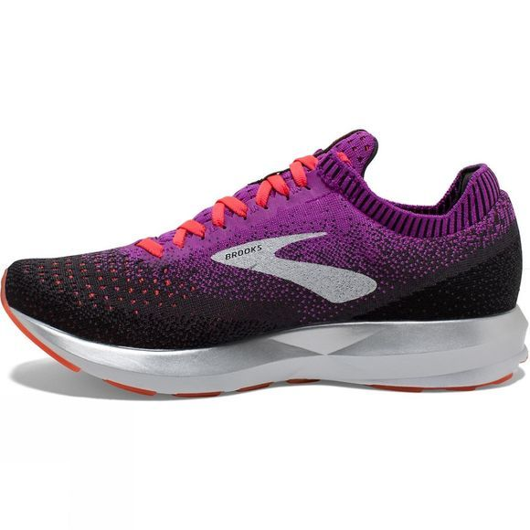 Brooks Womens Levitate 2 Purple/Fiery Coral/Black